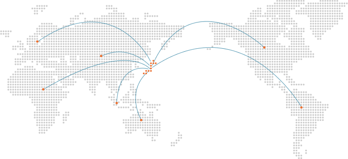 東亜商事のネットワーク